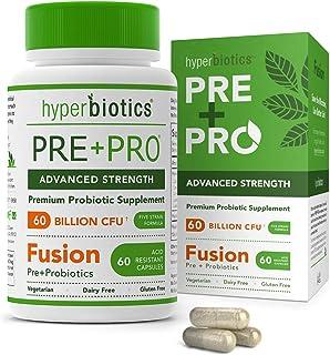 Hyperbiotics PRE-PRO Advanced Strength: Premium Prebiotic and Probiotic 60 Billion CFU Formulation - 60 Dairy and Gluten F...