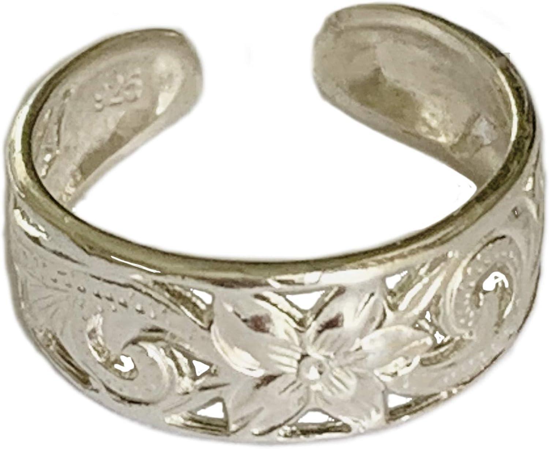 Toe Ring Hawaiian Finally resale Max 80% OFF start Leilani .925 Sterling Silver Wi Super