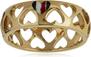 TOMMY HILFIGER WOMEN'S IONIC GOLD PLATED STEEL RINGS -2701094E
