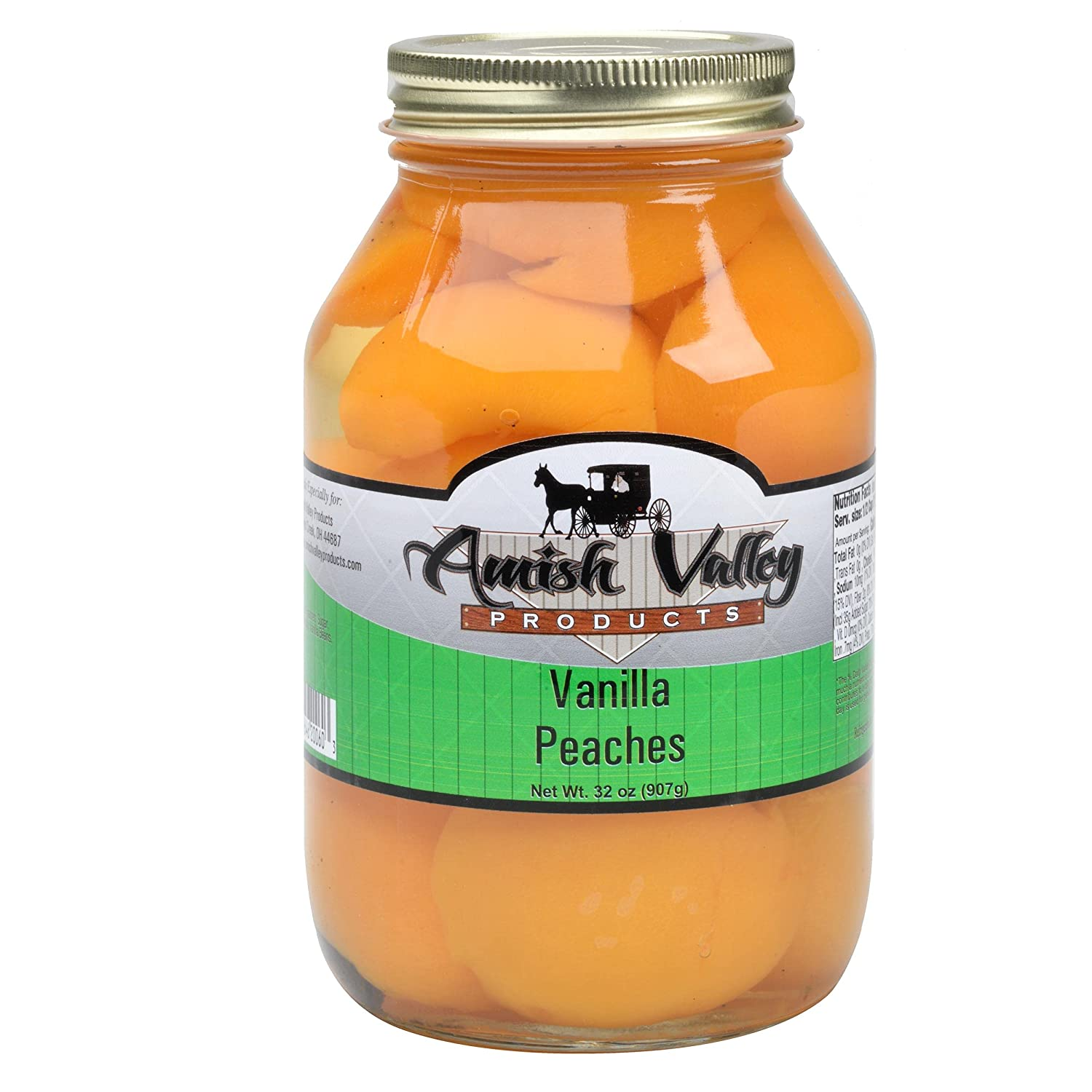 Amish Valley Products Super special price Old Fashioned Canne Peaches Halves VANILLA Ranking TOP9