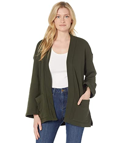 Eileen Fisher Organic Cotton French Terry High Collar Jacket