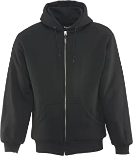 RefrigiWear Men's Insulated Quilted Sweatshirt Hoodie