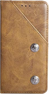 YLYT Business Shockproof - Brown Flip Leather TPU Silicone Retro Cover With Stand Wallet Case For Infinix S5 Pro 6.53 inch...