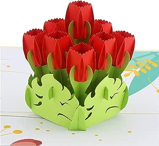 tulip pop up card