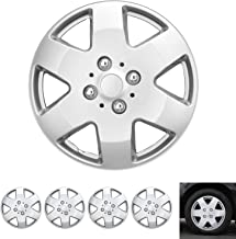 "BDK Wheel Guards – (4 Pack) Hubcaps for Car Accessories Wheel Covers Snap Clip-On Auto Tire Rim Replacement for 15 inch Wheels 15"" Hub Caps (5 Thick Spokes)"