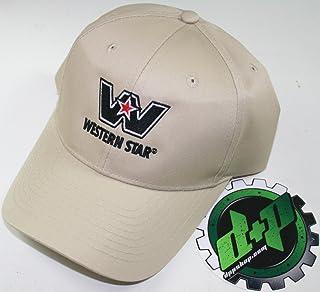 17633722faca6 Western Star semi Trucker hat Ball Cap Truck Adjustable Back Diesel Gear tan