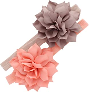 My Lello Petal Flower Headbands Baby - Girls - Toddler Stretchy Elastic Pair
