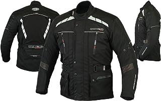 Motorcycle Motorbike Men's Long Jacket For Touring Racing - Textile Waterproof Men's Jacket Black Medium
