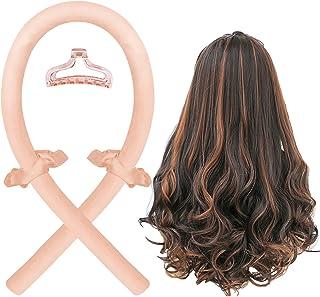 Heatless Curling Rod Headband, No Heat Silk Ribbon Hair Curlers for Overnight, Curls Headband Waves Formers Hair Curlers,L...