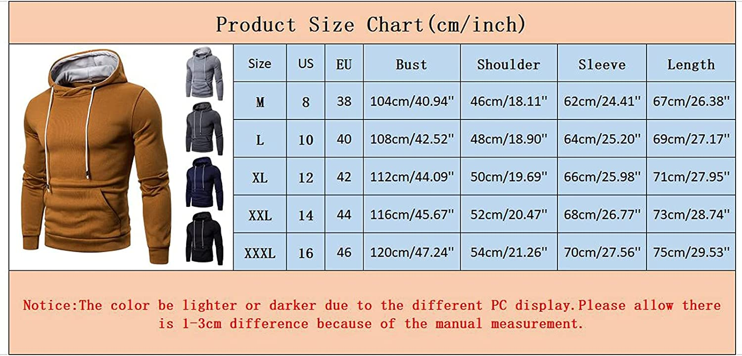XXBR Hoodies for Mens, Fall Fashion Athletic Casual Solid Drawstring Workout Sports Hooded Sweatshirts with Pockets