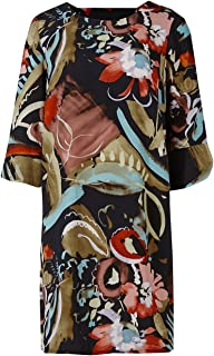 83c59728592c57 Marks and Spencer Ladies Printed Bar Back Tunic Midi Dress M&S Collection