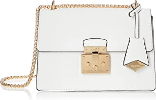 Aldo womens CRIWIEL Bright White With Lt. Gold Hardware SYNTHETIC EPI CROSS BODY