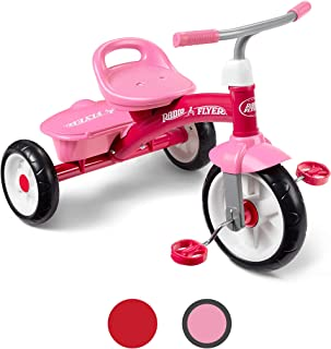 Radio Flyer Pink Rider Trike, outdoor toddler tricycle, ages 3-5 (Amazon Exclusive)