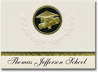 Signature Announcements Thomas Jefferson School (Cleveland, OH) Graduation Announcements, Presidential style, Elite packag...