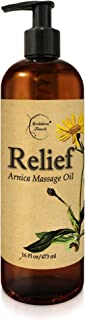 Relief Arnica Massage Oil for Massage Therapy & Home Use Therapeutic Massaging Oil Great for Lymphatic Drainage, Sore Musc...