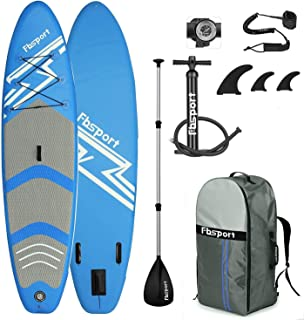 FBSPORT Tabla de Surf Hinchable, 15 cm de Espesor Tabla de Paddle Surf Hinchable, Tabla Inflable de Paddle Surf, Set de Tabla Sup Hinchable con Tabla y Accesorios