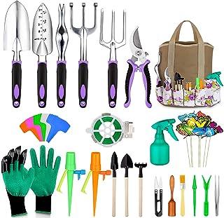 مجموعه ابزارهای باغ Tudoccy 51 قطعه ، مجموعه ابزارهای ساکولنت شامل ، ابزار باغبانی آلومینیوم سنگین ، وسایل دسته دار ارگونومیک بدون لغزش ، کیف دستی مخصوص نگهداری با دوام ، وسایل هدایا برای آقایان