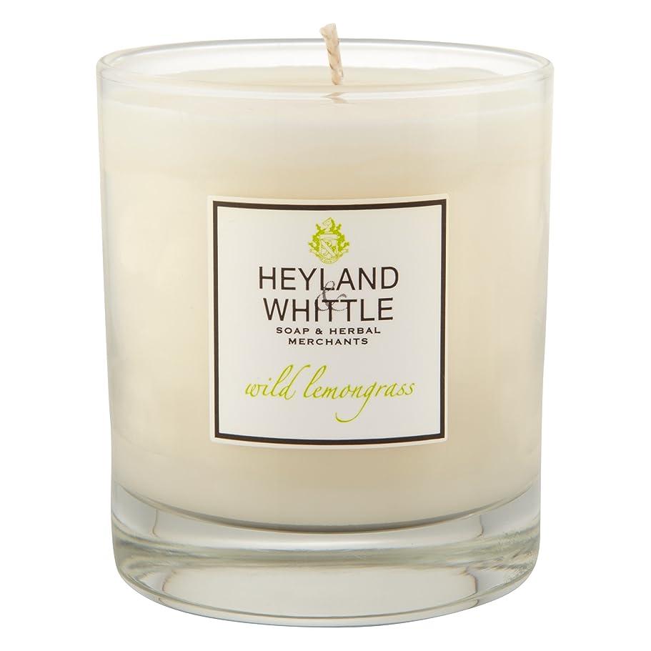 ライナー炎上牽引Heyland & Whittle Wild Lemongrass Candle (Pack of 6) - Heyland&削る野生レモングラスキャンドル (Heyland & Whittle) (x6) [並行輸入品]
