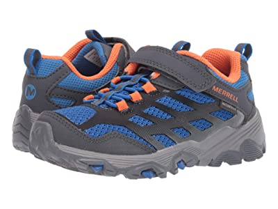 Merrell Kids Moab FST Low A/C Waterproof (Little Kid/Big Kid) (Blue/Grey) Boys Shoes