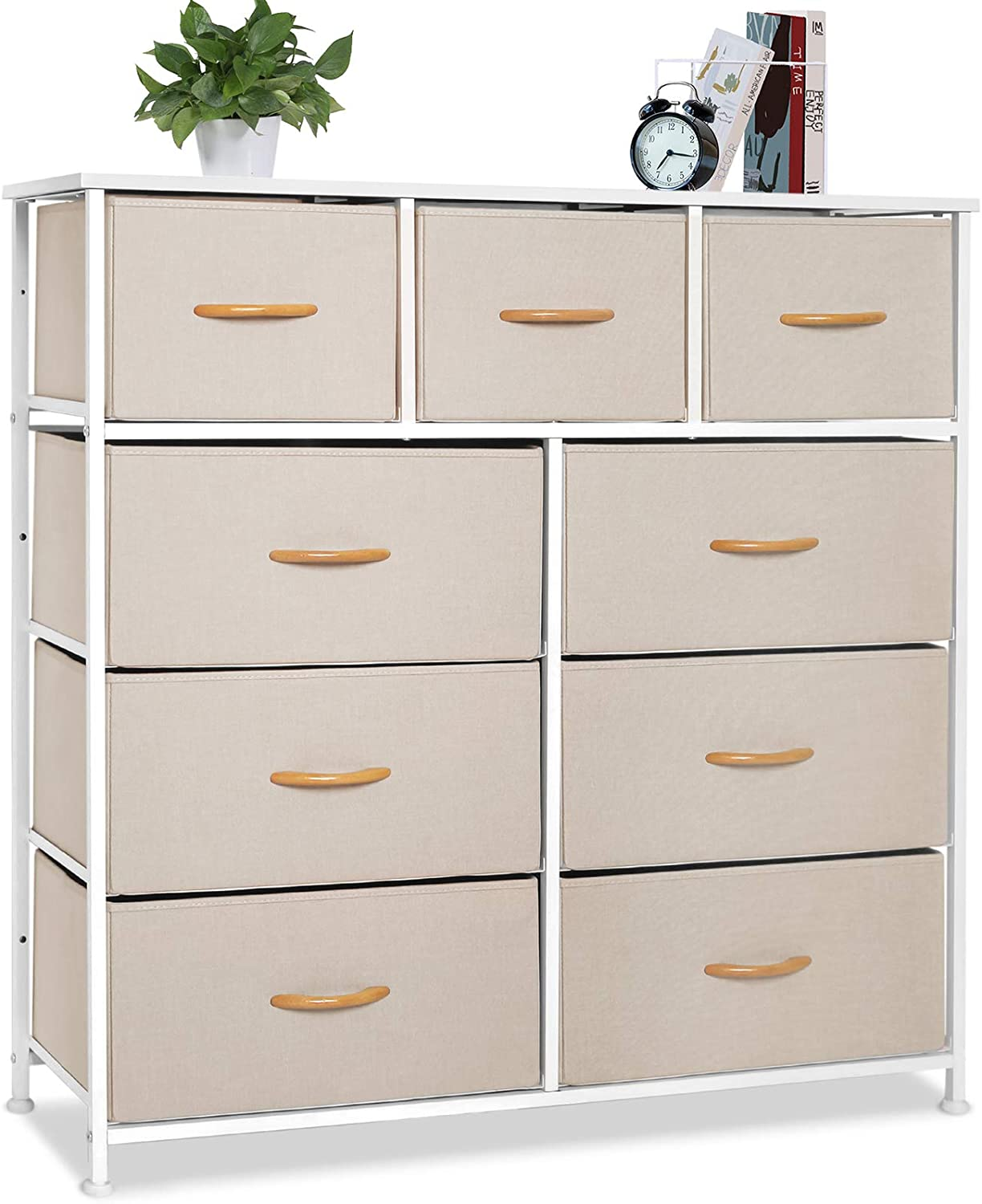 Bigroof Dresser with Drawers Storage f Jacksonville Mall Dealing full price reduction Organizer Fabric