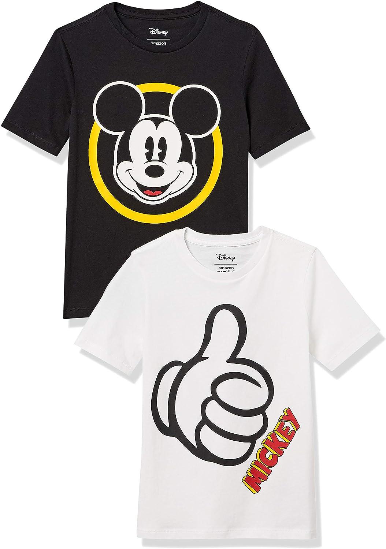 Amazon Essentials Boy's Disney Star Wars Marvel Short-Sleeve T-Shirts