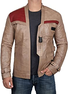 Real Lambskin Leather Jacket for Men - Beige & Brown Mens Leather Jackets