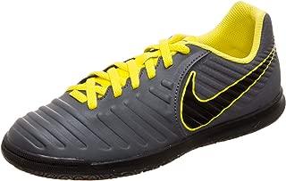 Kids Jr LegendX 7 Club (IC) Indoor Soccer Shoe (5.5Y US, Grey/Yellow)