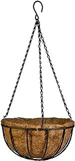 Vanze Hanging Basket Planter with Coco Coir Liner 8 Inch Round Wire Plant Holder with Chain Porch Decor Flower Pots Hanger Garden Decoration Indoor Outdoor Watering Hanging Baskets