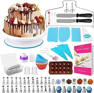 HapeeFun Kit de Fournitures de décoration de gâteaux, 95pcs Set de décoration de gâteaux-Outils de décoration de gâteaux a...