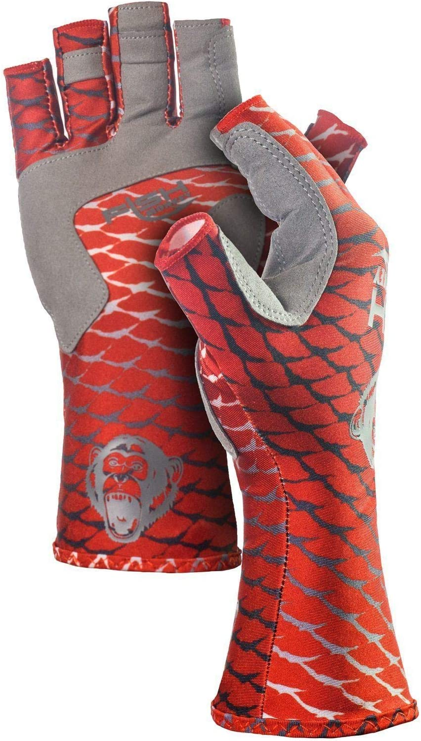 We OFFer at Low price cheap prices Fish Monkey FM11-REDFISH-M Half Finger Guide Glove Redfish M