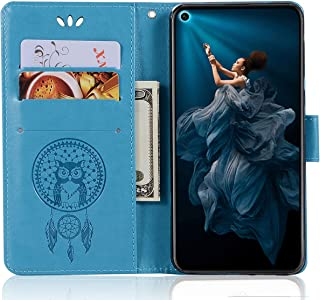 SCIMIN Honor 20S Leather Case, Honor 20S Wallet Case, PU Leather Embossed Floral Flip Case with Credit Card Holder for 6.26'' Honor 20S