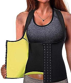Neoprene Waist Trainer Corset, DELFINO Women's Neoprene Waist Trainer Corset Sweat Vest Weight Loss Body Adjustable Shaper...