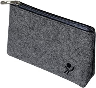 ProElife Premium Felt Storage Sleeve Case Bag Pouch for Computer Laptop Tablet Phone Accessories (Charger Adapter Mouse Earphone Earbuds Cables Power Bank and More) (Grey)