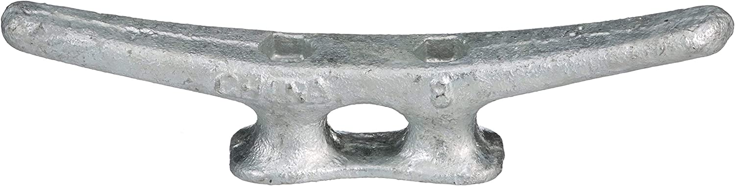 Details about  /Seachoice 30610 Open Base Dock Cleat Galvanized Gray Iron 8 Inches