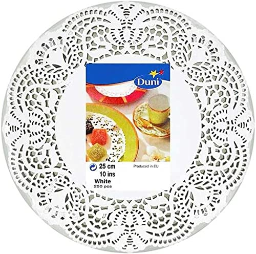 Duni 250 Napperons Blancs Pack 25Cm De 8