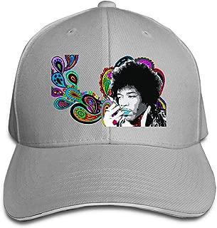 Corrine-S Jimi Hendrix Outdoor Jogging Cotton Cap Adjustable Gray