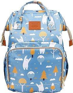 Baby Diaper Bag Backpack, Waterproof Nappy Bags Travel Gear, Floral Multi