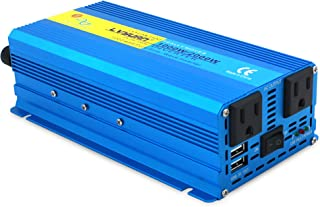 Cantonape 1000W Pure Sine Wave Inverter 12V to 110V AC Power Inverter Converter with 3.1A USB Car Adapter and Cigarette Lighter Plug for Car Outdoor