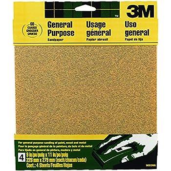 3M 9003NA Aluminum Oxide Sandpaper, Coarse, 9-in by 11-in