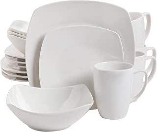 Gibson Home Zen Buffetware 16 Piece Dinnerware Set, White - 102539.16RM