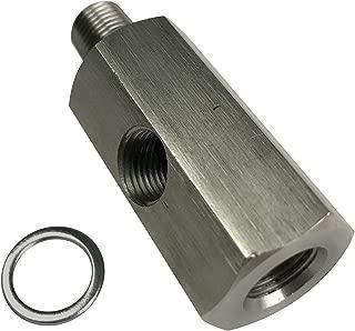 1/8 NPT Oil Pressure Sensor Tee Adapter Turbo Supply Feed Line Gauge 1/8