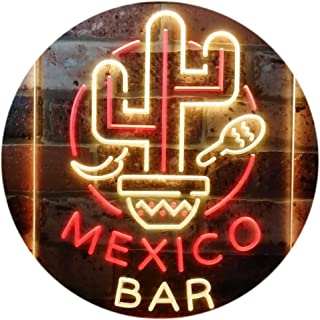 Mexico Bar Cactus Display Restaurant Open Dual Color LED Neon Sign Red & Yellow 300 x 400mm st6s34-i3190-ry