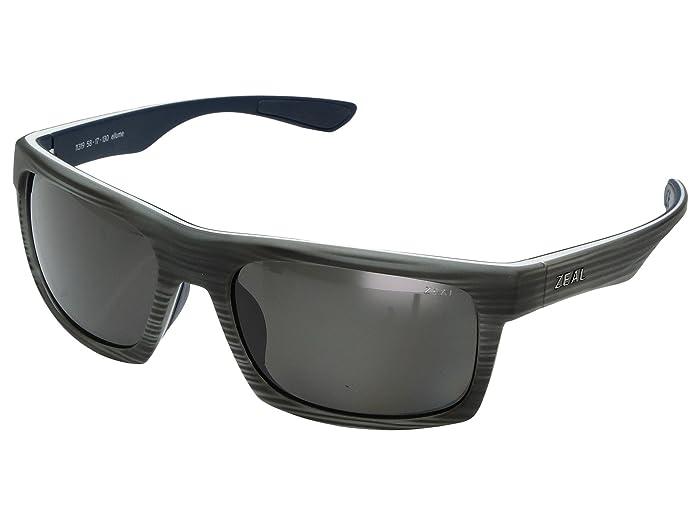 Zeal Optics  Drifter (Grey Woodgrain with Polarized Dark Grey Lens) Sport Sunglasses
