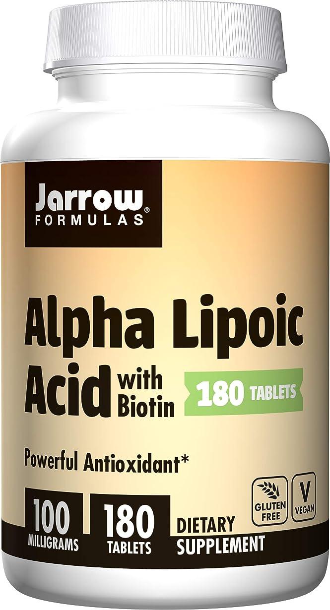 フィヨルド生産的命令的Alpha Lipoic Acid w/ Biotin 180 海外直送品