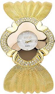 MGCG Orologio da polso di lusso con cinturino al quarzo da donna con cinturino in maglia di farfalla brillante con diamant...