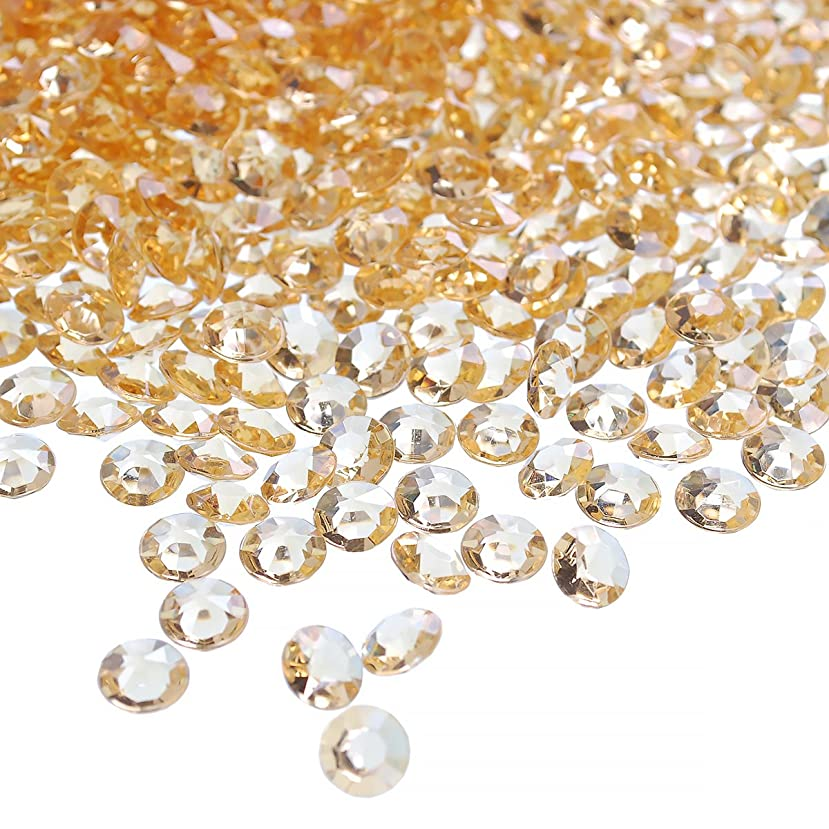 craftjoje 12MM 1000pcs Wedding Table Scattering Crystals Acrylic Diamonds Wedding Bridal Shower Party Decorations Vase Fillers (12mm, Champagne)