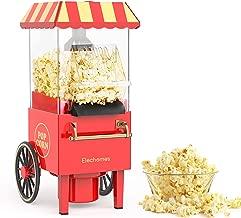 Coocher Machine /à pop-corn large avec verre doseur et couvercle amovible 1200 W Noir