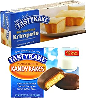 1 Box Each Tastykake Butterscotch Krimpets and Peanut Butter Candy Cakes Tastykakes Kandy Kakes