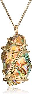 قلادة نسائية من روبرت لي موريس سوهو ملفوفة من حجر أبولون بحري، لون داكن، مقاس واحد