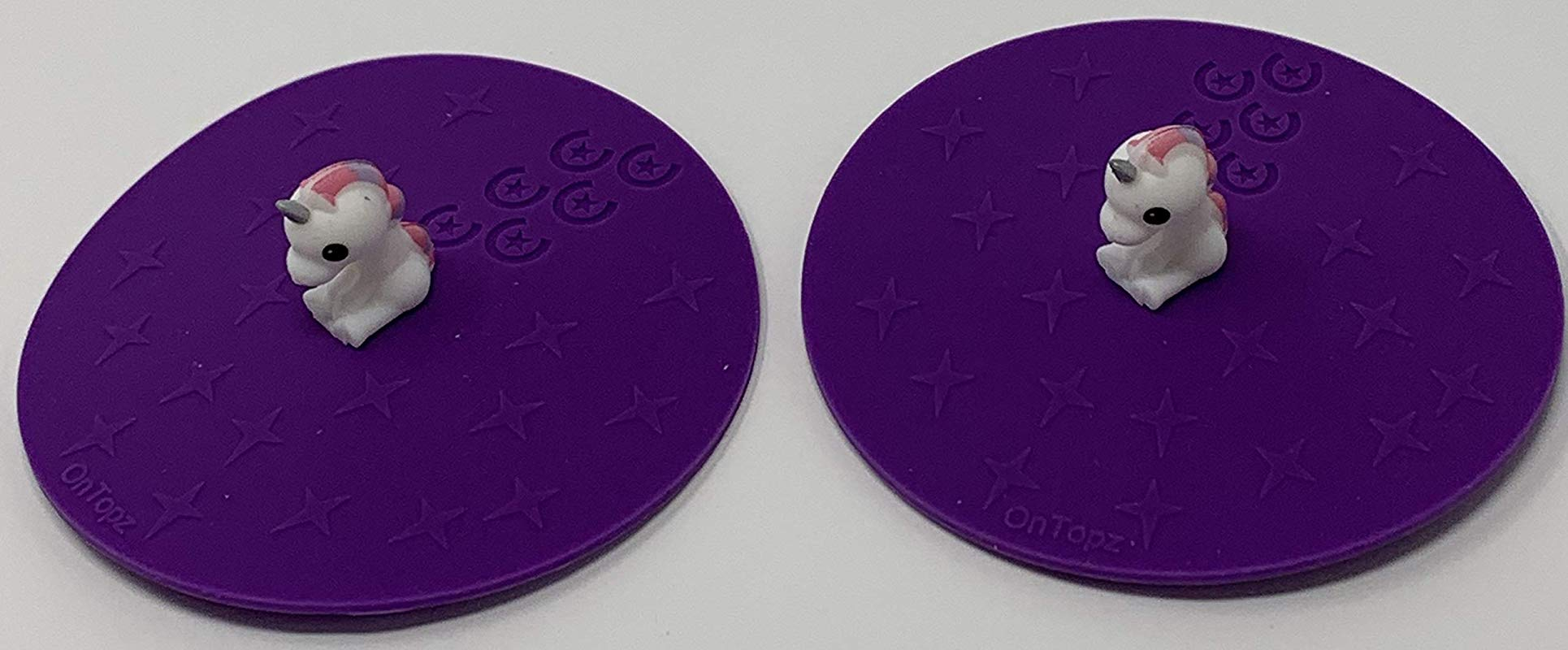 4 Unicorn Silicone Drink Lids 2 Pack